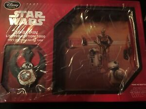 Disney Store Pin Lithograph Star Wars Force Awakens BB8 LE 1000