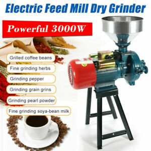 Wet & Dry 3000W 2800r/min Electric Feed/Flour Mill Cereals Grinder Grain Corn