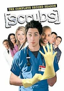 Lot of 100 Scrubs - The Complete Second Season (DVD 2005 3-Disc Set) New