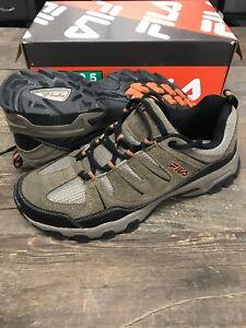Fila Men's MIDLAND Rugged Trail Hiking Shoes Brown Orange Black - Pick Size