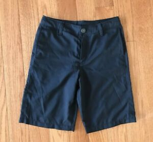 Under Armour Boys Golf Shorts Black Loose Fit Size Youth Medium $19.99