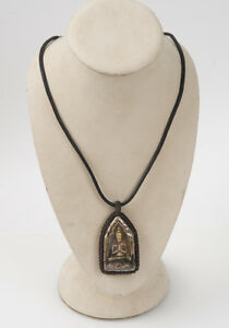 Excellent Antique Buddha Pendant Amulet Necklace 100+ Years Old- Hand Wrapped