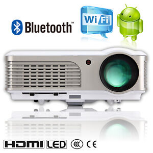 HD 7000:1 Bluetooth 1080p Android Projector 4200LM LED Home Theater Airplay Kodi