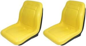 (2) Two Yellow SEATS for John Deere Gator 4x4 4x6 4x2 Diesel Trail Turf Worksite