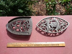 Antique Cast Iron Griswold Advertising Trivet for Sad Iron and One Advertising W