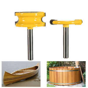 2Pcs 1/4'' Shank Canoe Flute and Bead Router Bit Cutter Woodworking Tool VV