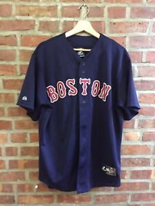 Vintage 90s Bost Red Sox Baseball Jersey Majestic Size Large Mens MLB