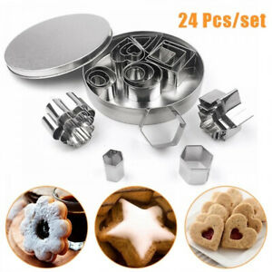 Cake Mold Chocolate Star Flower Shape Biscuit Slicer Cookies Cutter Heart Shape
