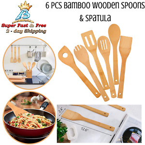 Kitchen Slotted Spoon Nightmare Before Christmas Bamboo Cooking Utensil 5 Pc Set