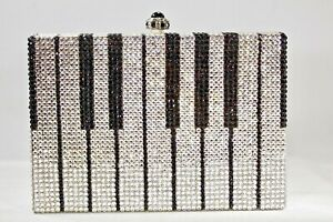 Piano Keys Designer Crystallized Evening Musical Bag Purse Swarovski Crystals
