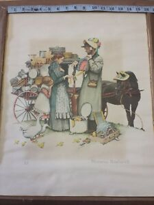 A P Norman Rockwell Lithograph quot;A Country Peddlerquot; Traveling Salesman Series $749.99