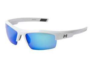 New $100 Under Armour UA Igniter Sport Sunglasses White Blue Multiflection 5261