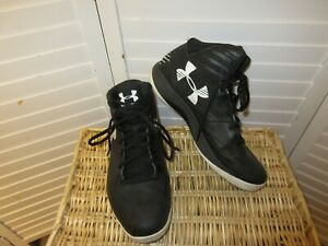 UNDER ARMOUR MENS ATHLETIC HIGH TOP BASKETBALL SHOES USA SIZE 9.5 BLACK