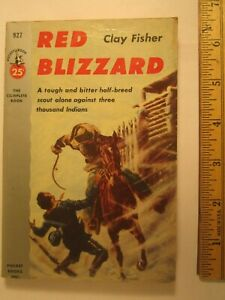 Paperback RED BLIZZARD Clay Fisher 1953 Z96c