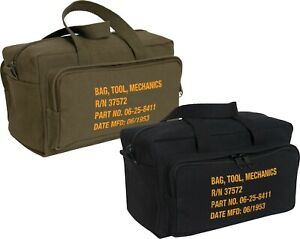 Canvas Mechanics Tool Bag Military Stamped Heavy Duty with Outer Pockets