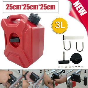 Fuel Tank Cans Spare 3L Portable Oil Petrol Diesel Storage Gas Emergency Backup