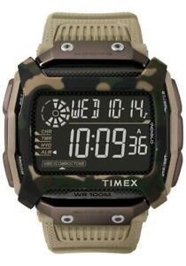 Mens Wristwatch TIMEX COMMAND TW5M20600 Silicone Camouflage Brown Digital