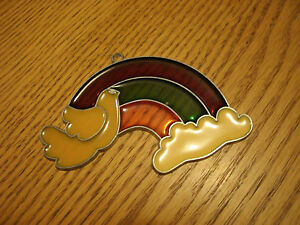 Rainbow With Dove And Clouds Suncatcher $2.70