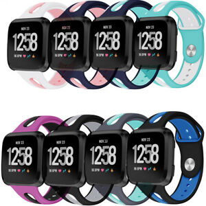Replacement Silicone Rubber watch Band Strap For Fitbit Versa / Lite / Versa 2