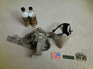 Airsoft Gear BBs, Holster, Patches, Mesh Mask