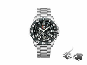 Luminox Navy Seal Steel Colormark Chronograph Quartz Watch - BlackWhite