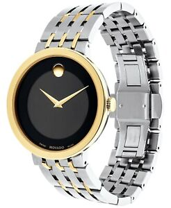 Movado 0607058 Swiss Esperanza Two-Tone PVD Bracelet Watch 39mm New wtags