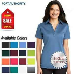 Port Authority Womens Dri Fit SIlk Touch Performance Polo Golf Shirt M L540 $12.58
