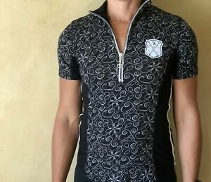 Goode Rider Ideal Show Shirt (Black - Floral) - Sizes XS and S