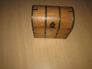 TREASURE CHEST FURNITURE PIECE OPENS WITH SLOTTED SPACERS