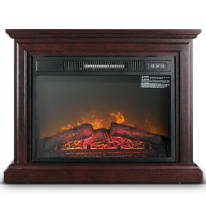 1400W Large Infrared Quartz Electric Fireplace Heater Realistic Flame w/ Remote