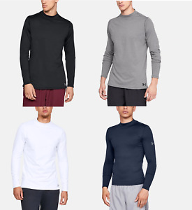 Under Armour UA Mens ColdGear Fitted Mock Neck Shirt FREE SHIP 1320805 $33.99