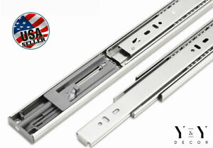 Soft Close Full Extension Drawer Slides Ball Bearing Side or Rear Mount