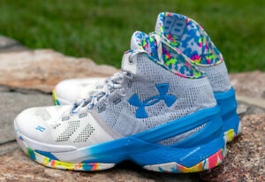 Under Armour Curry 2 Birthday Cake White And Blue Size 9.5