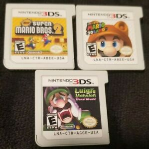 Luigi's Mansion: Dark Moon & x2 More Games for Nintendo 3DS  2DS * Game Carts *