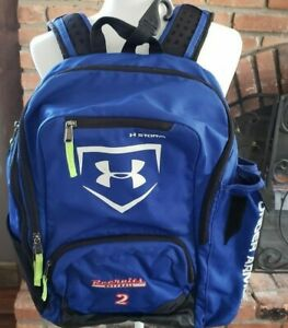 Under Armour Blue White Storm Recruits Baseball 2 School Back Pack