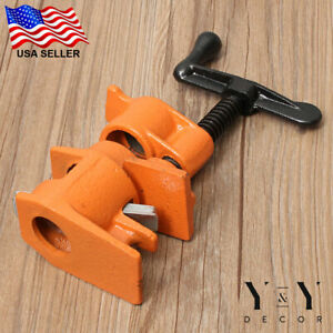 4 Pack 3 4quot; Wood Gluing Pipe Clamp Set Heavy Duty PRO Woodworking Cast Iron