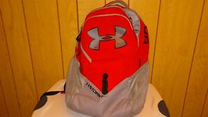 UNDER ARMOUR STORM 1 BACKPACK UNIQUE COLOR  RED AND GRAY