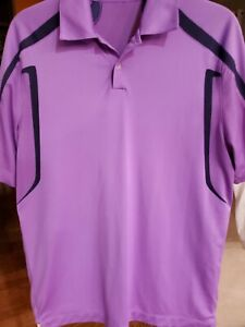 Nike Golf Men's Dri Fit Polo Shirt Solid Purple Short Sleeve Size- Medium (64)