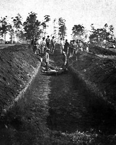 New 8x10 Civil War Photo: Burial of Soldiers at Andersonville Prison Georgia $8.99