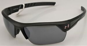 UNDER ARMOUR UA IGNITER 2.0 Men's Satin Black Frame Gray Lens Sunglasses NEW
