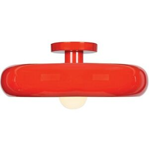 Access Lighting Bistro Small Flush Mount, Red and Silver - 23880LEDDLP-RED-SILV