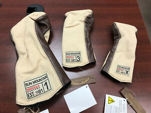 New Sun Mountain LeatherCanvas Head Cover Pack (Driver3 WoodHybrid (X))