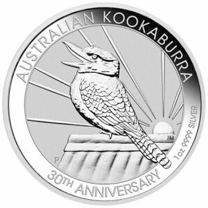 2020 P Australia 1 oz Silver Kookaburra 30th Annv $1 GEM BU Delayed SKU59718