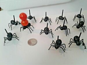 12pcs Mini Ants Plastic Cocktail Picks Fruit Sticks Party Food Drink Halloween