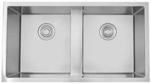 37 in. Double Bowl Kitchen Sink for Wall Mount Faucet in Chrome [ID 3886324]