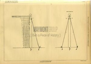 Net Support Earle Original Patent Lithograph 1888