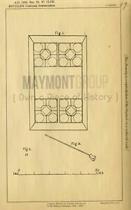 Cue and Sliders Games Neville Original Patent Lithograph 1888