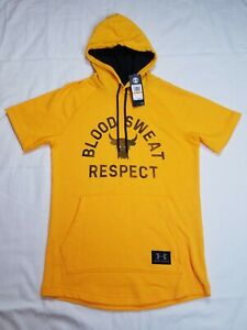 Under Armour Men's Project Rock Blood Sweat Respect Short Sleeve Hoodie Small $49.99