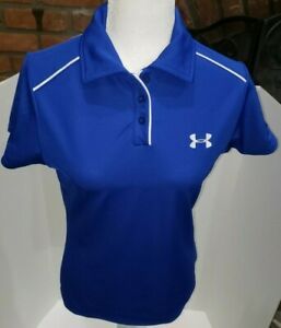 Under Armour Women's Golf Shirt Short Sleeve Size S Blue Polyester The Wyndgate