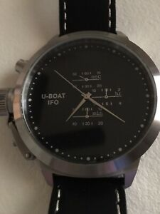 U-Boat Nero Chrono Black Dial 53 mm Stamped U 0053 Limited Edition 1000